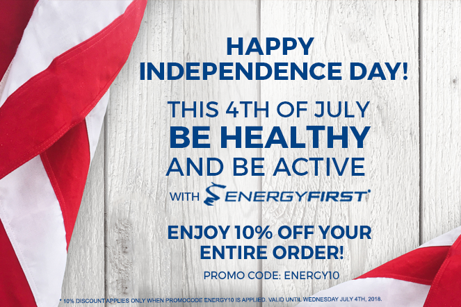 Happy's Independence Day! This month stay healthy and active!