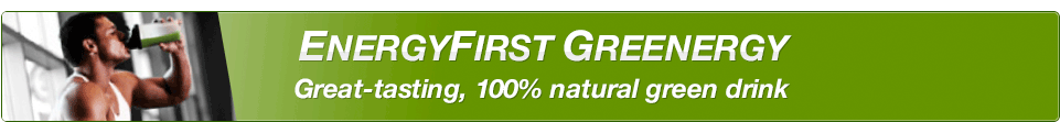EnergyFirst Greenergy Great-tasting, 100% natural green drink